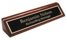 Desk Nameplate Wedge